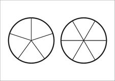 分数饼被划分成切片 网站介绍盖子海报平的概述象的Fractions皇族释放例证