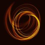 分数维与颜色螺旋波浪的艺术背景 免版税库存照片