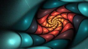 分数维漩涡花-转动的生气蓬勃的火焰分数维动画,无缝的圈 股票视频