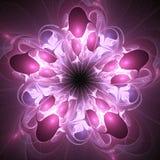 分数维花或花卉样式 库存例证
