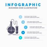 分析、化学、烧瓶、研究、测试Infographics模板网站的和介绍 r 库存例证