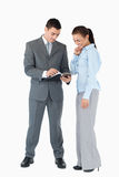 分析业务单据合作伙伴 库存图片