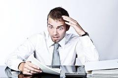 分析企业冲击 库存图片