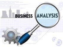 分析企业演变总额 库存照片