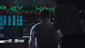 分析关于交换的贸易商数据 股票视频