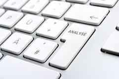 分析关键董事会徽标个人计算机 免版税库存图片