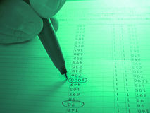 分析列数 免版税库存照片