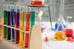 分析化学制品 免版税库存照片