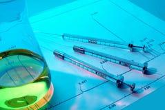 分析化学制品 库存图片