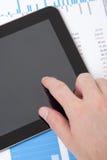 分析员企业个人计算机片剂 免版税库存照片