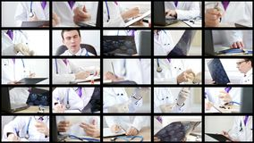 分析和解释有些结果和做做法的医生拼贴画  股票视频