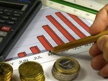 分析图形收入 免版税库存照片