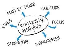 分析图表公司 免版税库存图片