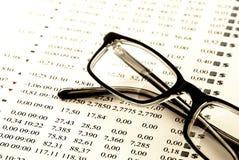 分析图表股票 免版税库存照片