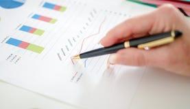 分析图表 免版税图库摄影