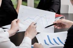 分析在办公室 免版税库存图片