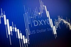 分析在外国市场上的数据 库存图片