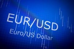分析在外国金融市场上的数据:图和行情 免版税图库摄影