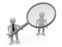 分析客户 向量例证