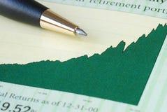 分析投资收益 免版税图库摄影