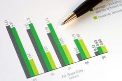 分析数据每个共用股票 库存照片