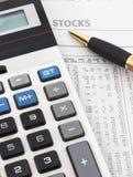 分析数据销售股票 图库摄影