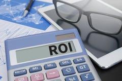 分析概念的Roi回收投资 免版税库存图片