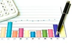 分析的图表 免版税库存照片