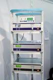 分析程序设备供气optec机架 免版税图库摄影