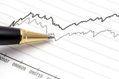 分析股市 库存图片