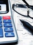 分析股票交易市场 免版税图库摄影