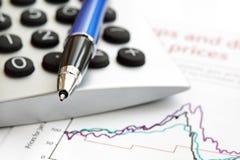 分析财务的数据 免版税库存照片