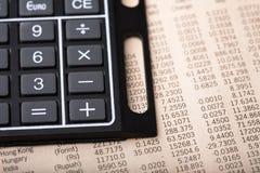 分析货币汇率 库存照片