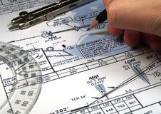 分析飞行 库存图片