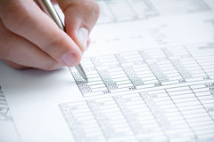 分析财务的数据 免版税图库摄影
