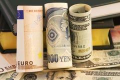 分析货币全球有战略意义 免版税库存图片