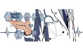 分析医疗数据图的医生 免版税库存图片