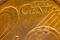 2分欧洲硬币细节欧洲联合 免版税图库摄影