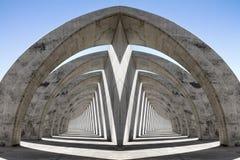 分流的双重拱廊 库存照片