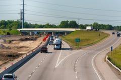 分流的高速公路 免版税库存图片