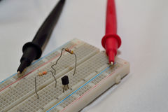 组分的电压测试器 库存图片
