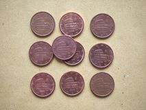 5分硬币,欧盟,意大利 库存照片