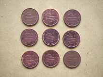 5分硬币,欧盟,意大利 图库摄影