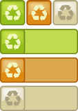 分类回收符号 免版税库存图片