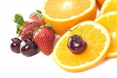 分类复制新鲜水果空间 库存照片