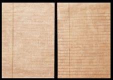 分类帐老纸张 库存图片