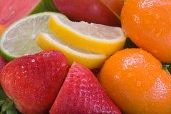 分类新鲜水果 免版税库存图片