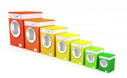 分类精力充沛的设备洗涤物 向量例证