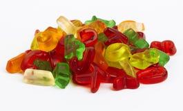 分类糖果五颜六色的信函 免版税库存照片