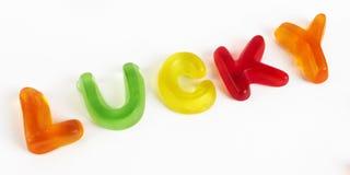 分类糖果五颜六色的信函 免版税图库摄影